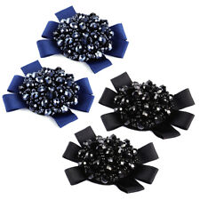 2x Rhinestone Crystal Beads Bows Shoe Clips for Women Accessories Charm Decor