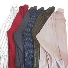 Lot of 6 Mens Long Sleeve Shirts Button Front Casual Dress Size S M L XL Random