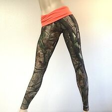Camo Camouflage Hunting Pants ORANGE Fold Over/Low Rise Legging MADE IN USA