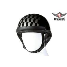200 Race Day DOT Approved Checkered Race Flag Motorcycle Helmet, Black/Silver