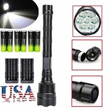 Tactical 80000Lumens LED Flashlight Torch 5-Modes 7x T6 Super Bright Light Lamp~