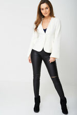 EXCLUSIVE COLLECTION FRILL BLAZER EX-BRANDED WHITE JACKET TOP SIZE 6 8 10 12