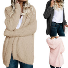 Women Fluffy Shaggy Faux Fur Coat Parka Warm Cardigan Jacket Outwear Sweater Top