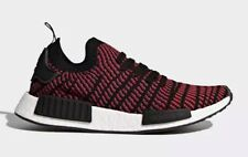 Adidas Men's NMD_R1 STLT Primeknit Shoes Core Black/Red Solid CQ2385 c