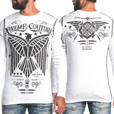 Xtreme Couture Affliction UFC MMA Connect Eagle Ammo Mens LS Thermal White S-2XL
