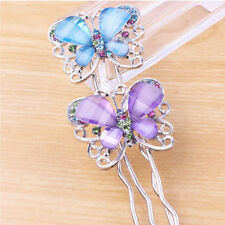 Fashion Jewelry Girls Shining Crystal Butterfly Hairpin Hair Accessories