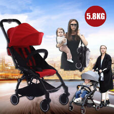 Baby Stroller Pram Compact Lightweight Jogger Carry-on Travel Foldable 4 Wheel