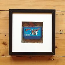 Famicom Game Cart Wall Art - Comics Picture Framed Superman Mario Zelda 2 Disk