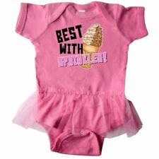 Inktastic Best With Sprinkles Ice Cream Twist Cone Infant Tutu Bodysuit Food