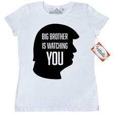 Inktastic Big Brother Is Watching You-silhouette Women's T-Shirt 1984 Trump Two
