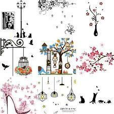 Wall Decal Stickers DIY Birds Tree Removable Vinyl Home Room Decor Art Exotic