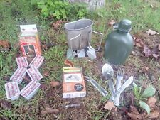 DUTCH ARMY Issue Water Bottle & Aluminium Mess Cup - Bushcraft - Camping - G1