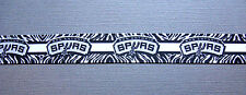 "SAN ANTONIO SPURS 7/8"" Zebra-Striped Grosgrain Ribbon"