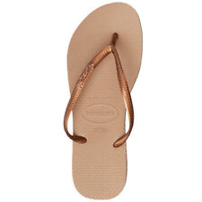 Havaianas - Slim Metal Logo Thong - Rose/Dark Copper