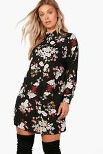 NEW Boohoo Womens Plus Milly Floral Shirt Dress in Polyester