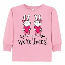 Inktastic Twin Girl Gift Bunny Rabbit Toddler Long Sleeve T-Shirt Twins Girls
