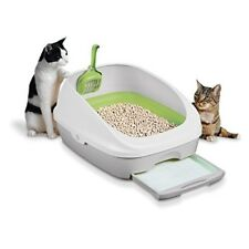 Cat Litter Box Toilet Training Kit Pan With Scoop Odor Reduce For Pet Kitty NEW