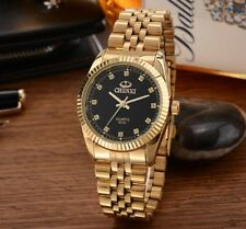 Golden New gold Fashion Men watch full gold Stainless Steel Quartz watches
