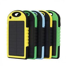 Portable Solar Power Bank For Iphone Dual USB Emergency External Battery Charger