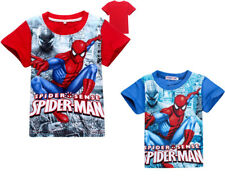 Kids Boys Super Hero Spider-Man Spiderman T-Shirts Tops Summer tshirts Clothes