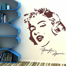 MARILYN MONROE Vinyl Wall Art Sticker Decal Mural movie hollywood icon stickers
