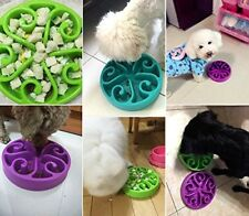 Slow Feed Dog Food Water Bowl Puzzle Maze SkidStop Design Interactive Fun Feeder
