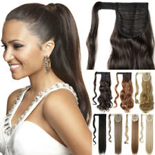 US Post Real Clip In 5% human Hair Extension Pony Tail Wrap Around Ponytail ncw
