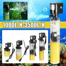 1000-3500L/H Submersible Water Internal Filter Pump For Aquarium Fish Tank PonUB