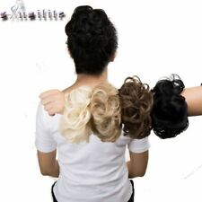 Drawstring Ponytail Synthetic Hair Bun Curly Updo Cover Doughnut Chignon Hairpie