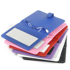 "HOT Micro USB Keyboard Stand PU Leather Case Cover for 8"" 9"" inch Android Tablet"