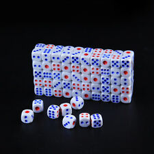 10/20/50/100pcs Standard Plastic 12.6mm TRPG Game White Dice Die Set Party Play.