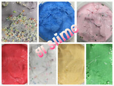 Butter Slime Mix Daiso Clay Thick colorful Pink Red Blue Green White Floam Beads