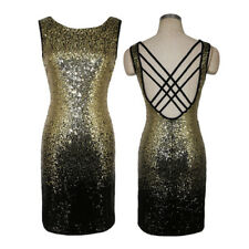 Women Sexy Sequin Glitter V Neck Bodycon Stretchy Club Cocktail Party Mini Dress