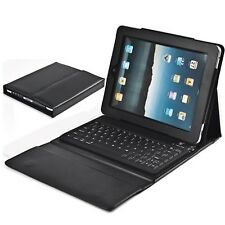Bluetooth Keyboard Case Stand Folio Leather Cover For Apple iPad Air 5th Black