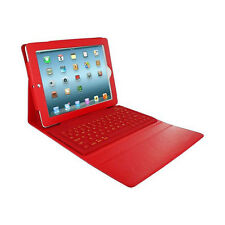 Bluetooth Keyboard Case Stand Folio Leather Cover For Apple iPad 2/3/4 Red