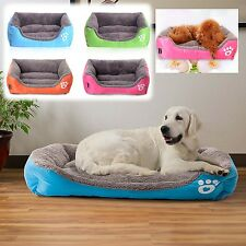 Pet Bed Soft Large Cushion Dog Cat Mat Pad Cage Kennel Crate Warm Cozy House