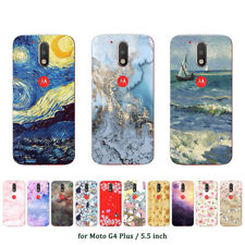 Soft TPU Silicone Case For Motorola Moto G4 Plus Phone Back Covers Skins Marble