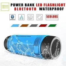 Splashproof Bluetooth Power Bank Speaker Flashlight Torchlight Mic FM TF NFC