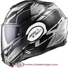 Casco modular LS2 VALIANT FF399 ROBOTO Black White Chrome talla M