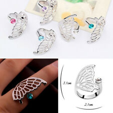 White Fashion Finger Rings Women Gilrs Butterfly Wings Ring Open Rings