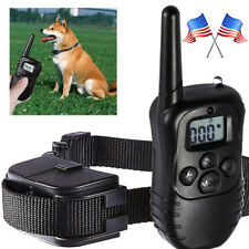 100LV Dog Collar 300Meter LCD Pet Training Electric Shock Vibration With Remote