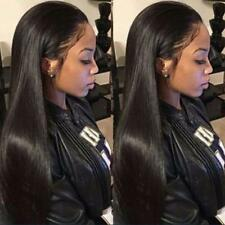 New Fashion Women Long Straight Synthetic Hair Lace Front Wigs With Baby Hair
