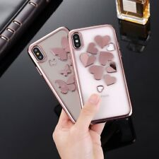 Butterfly Glossy Silicone Shockproof Rubber Soft Case Cover For iPhone X 8 7 6s