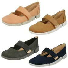 Ladies Clarks Casual Flat Shoe - Tri Carrie