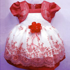1-4 Years Flower Girls Summer Princess Bow Dress Toddler Baby Party Tutu Dress