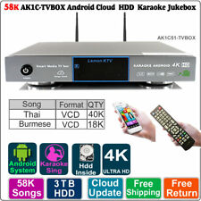 Android HDD Karaoke Jukebox/Player 3~8TB 58K Burmese VCD +Thai VCD DVD songs