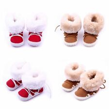 Cute Infants Girls Boys Casual Toddlers Slip-On Soft Sole Warm Prewalker Shoes