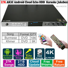 Android HDD Karaoke Jukebox/Player Burmese VCD+Khmer VCD karaoke 2-8TB 27K Songs