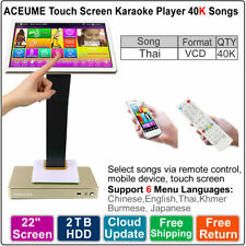 22'' TSR Touch Screen HDD Karaoke Player/Machine 2TB 40K Thai VCD DVD Songs
