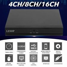 LESHP 4CH/8CH/16CH DVR AHD NVR HVR CCTV Security Digital Video Recorder H.264 QN
